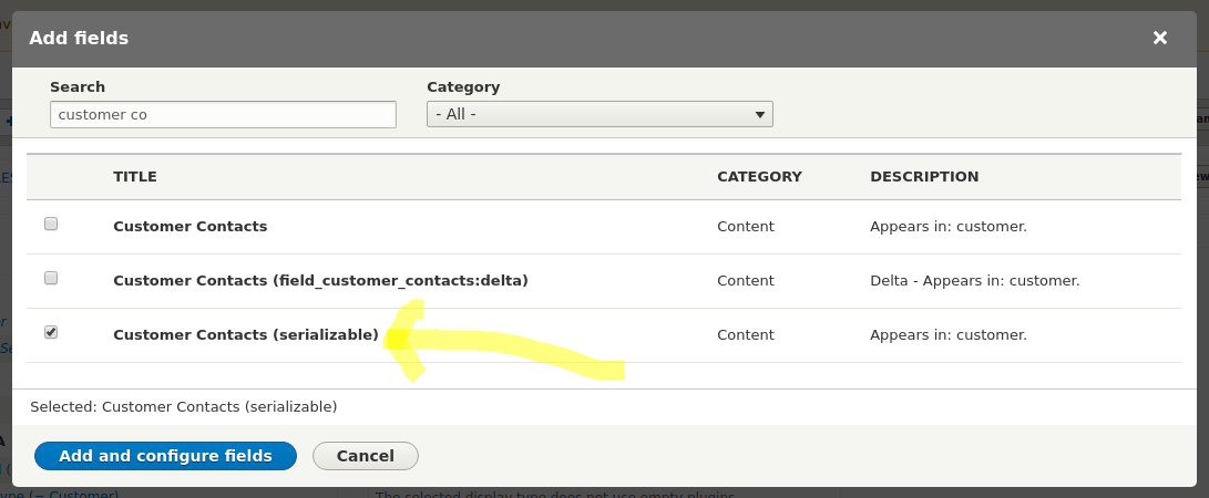 Adding Unlimited valued Entity Reference field to a Drupal 8 REST View