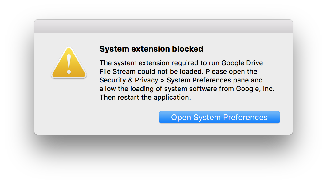 macOS System Block Error